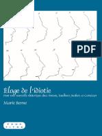 [Faux Titre No. 343] Berne, Marie - Eloge de l'Idiotie _ Pour Une Nouvelle Rhetorique Chez Breton, Faulkner, Beckett Et Cortazar (2009, Rodopi)
