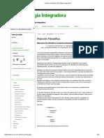 Posición Filosófica _ Psicología Integradora