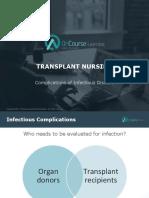 Transplant Nursing Complications Infectious Diseases FINAL
