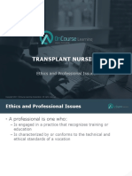 Transplant Nursing Ethics Prof Issues FINAL