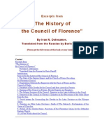 """Excerpts from """"The History of  the Council of Florence""""  By Ivan N. Ostroumov. Translated from the Russian. by Boris Popoff."""