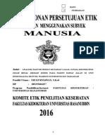 Proposal Pengajuan ethical clearance penelitian FK Unhas
