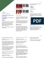 Piano Scales 3 Columns