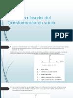Diagrama Fasorial Del Transformador en Vacío