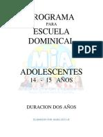 Plan de Clases 2 Años - 14 a 15 Años Adolescentes Junior