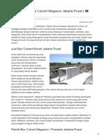 Distributor & Supplier Box Culvert Megacon di Jakarta Pusat ☎ 0819 3299 8507