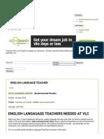 Akwajobs · English Language Teacher