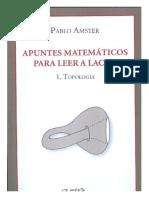 Apuntes Matemáticos Para Leer a Lacan .Topología - Pablo Amster