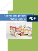 Receitas para preparo do pó nutricional Herbalife