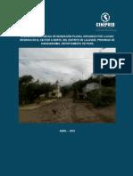 5211 Informe de Evaluacion de Riesgo de Inundacion Pluvial Originado Por Lluvias Intensas en El Sector a Norte Del Distrito de Lalaquiz Provincia de Huanca