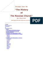 "Excerpts  from  the ""The History of The Russian Church"".  By N. Mouravieff."