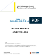 TABL 1710_2018_s1_Business and the Law_Tutorial Program