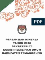 Perjanjian Kinerja 2018 - Sekretariat