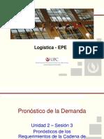 UPC EPE LOGISTICA Unidad 2 Sesion 3 El Pronostico de Los Requerimientos de La Log%UFFFDstica