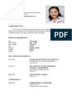 Resume for South Hospital
