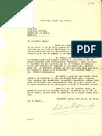 Carta 1935 Jun. 30 Santiago a Gabriela Mistral Madrid de Arturo Alessandri