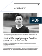 Malaysian Photographer Ryan Liu Making Waves in NYC _ Star2