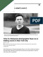 Malaysian Photographer Ryan Liu Making Waves in NYC _ Star2