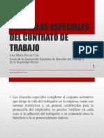Clausulas Especiales Del Contrato de Trabajo - Autor José María Pacori Cari