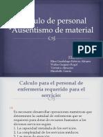 Calculo de Personal DE UN HOSPITAL