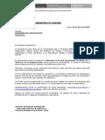 Carta de Capacitacion 2009
