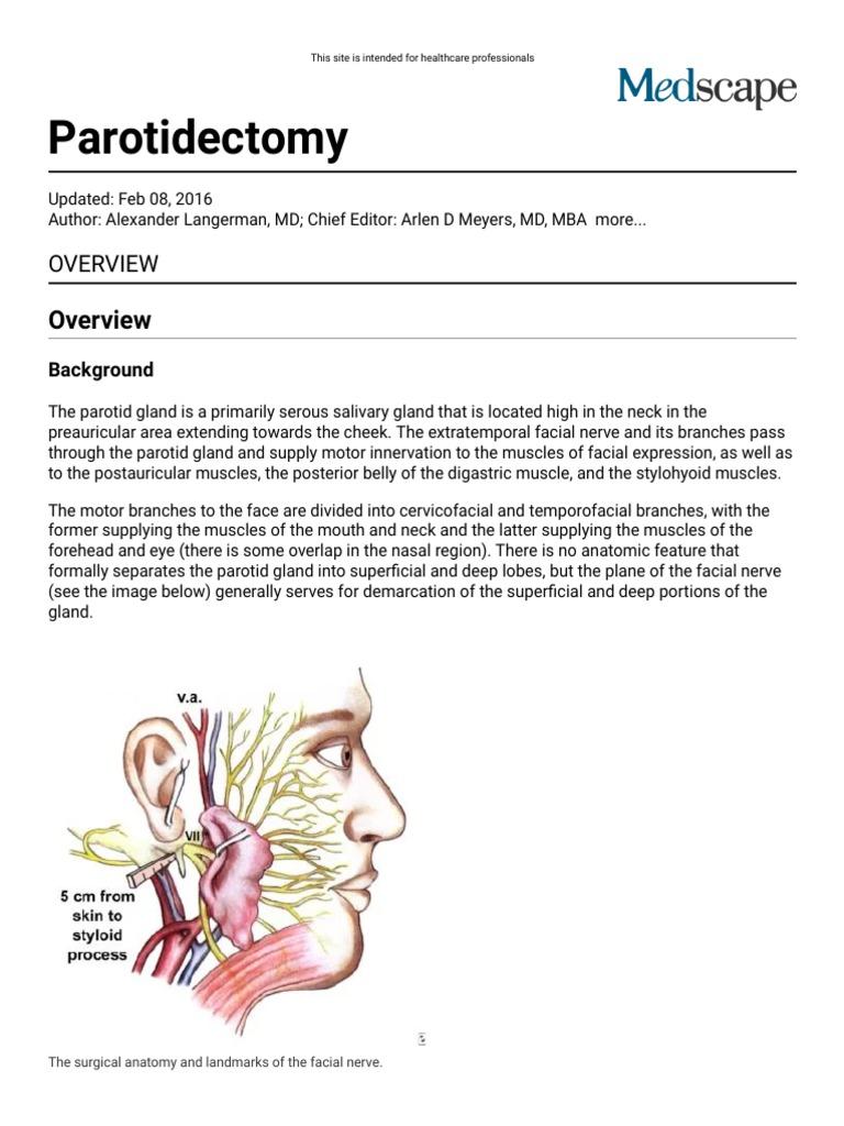 Parotidectomy_ Overview, Periprocedural Care, Technique