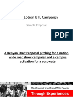 Sample Proposal to Activate Product Across Kenya via Road Show & Campuses
