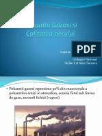 Poluanti gazosi si calitatea aerului