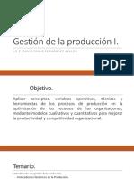 Unidad I Gestión de La Producción I
