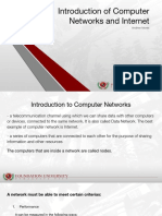 Introduction of Computer Networks and Internet