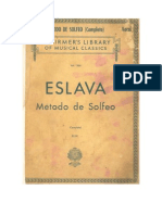 Metodo de Solfeo Eslava