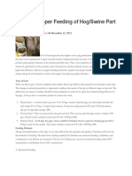 Guide to Proper Feeding of Hog