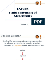 Lecture 1(Fundamental of Algorithms)