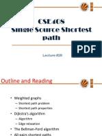 Lecture 28(Single Source Shortest Path)