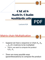Lecture 24(Matrix Chain Multiplication)
