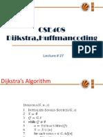 Lecture 27(Dijkstra,Huffmancoding)