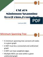 Lecture 26(Minimum Spanning Tree)