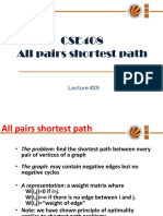 Lecture 29(All Pairs Shortest Path)