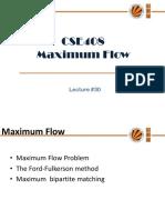 Lecture 30(Maximum Flow)