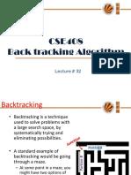 Lecture 32(Back Trackning Algorithms)