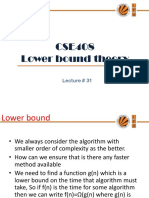 Lecture 31(Lower Bound Theory)