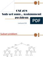 Lecture 34(Subset Sum,Assignment)