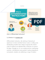 Differetiated Instruction Strategi