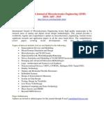 International Journal of Microelectronics Engineering IJME