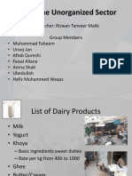 Dairy Unorganized Sector