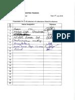 Attendance Sheet - 5S Housekeeping Training