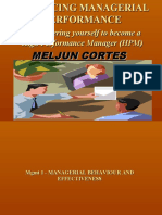 MELJUN_CORTES's - Managerial Behaviour and Effectiveness