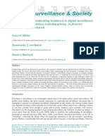 Understanding resistance to digital surveillance Towards a multi-disciplinary, multi-actor framework