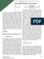 Document Ranking using Customizes Vector Method