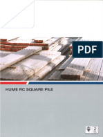 HUME - RC Square Pile